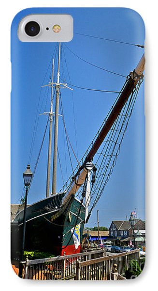 Lucy Evelyn At Schooner's Wharf Phone Case by Mark Miller