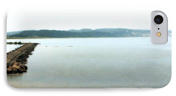 Ludington South Breakwater IPhone Case by Michelle Calkins