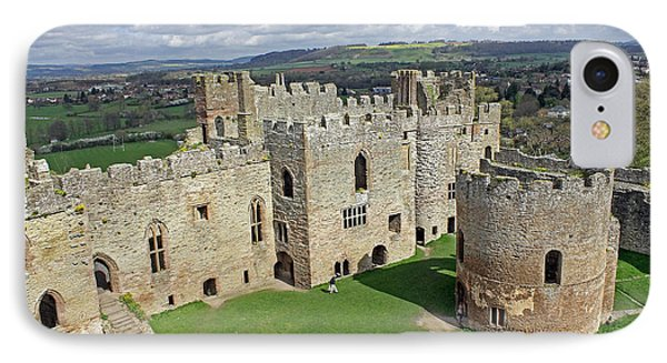 Ludlow Castle Chapel And Great Hall IPhone Case by Tony Murtagh
