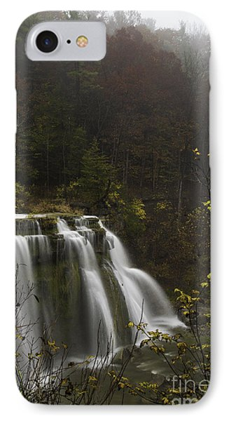Ludlowville Falls In Autumn I Phone Case by Michele Steffey