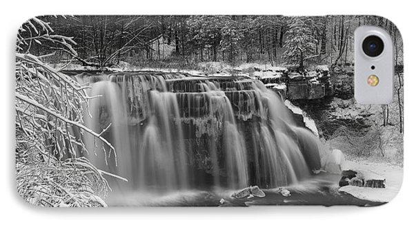 Ludlowville Falls In Winter I IPhone Case