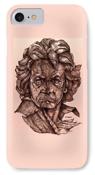 Ludwig Van Beethoven Phone Case by Derrick Higgins