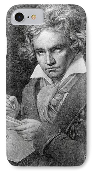 Ludwig Van Beethoven IPhone Case by Joseph Carl Stieler