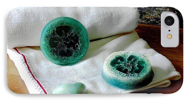 Luffa Turquoise Soap IPhone Case by Anastasiya Malakhova