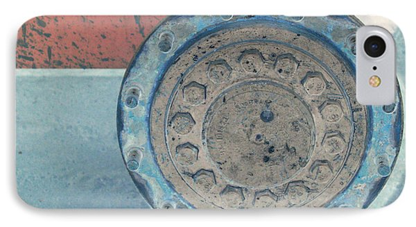 Lug Nut Wheel Right  Phone Case by Heather Kirk