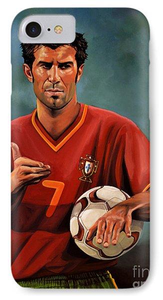Luis Figo Phone Case by Paul Meijering
