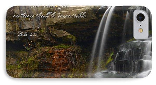 Luke Scripture Waterfall IPhone Case by Ann Bridges