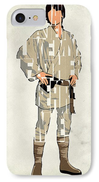 Luke Skywalker - Mark Hamill  IPhone Case by Ayse Deniz