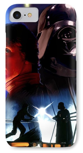 Luke Skywalker Vs Darth Vader IPhone Case by Paul Tagliamonte