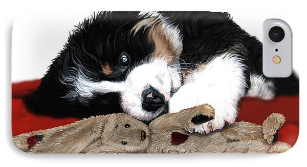 Lullaby Berner And Bunny IPhone Case by Liane Weyers