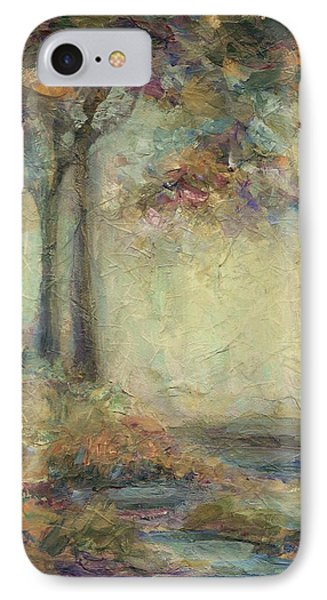 IPhone Case featuring the painting Luminous Landscape by Mary Wolf