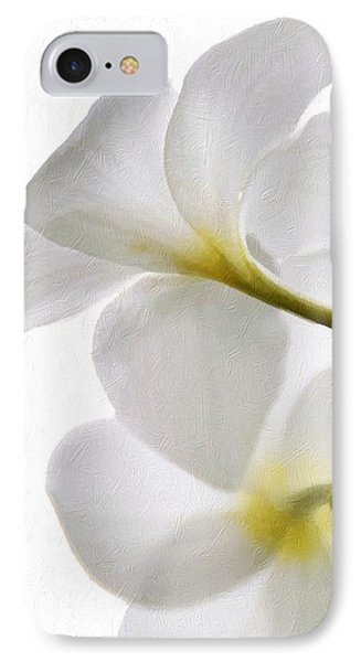 IPhone Case featuring the photograph Luminous Plumeria by Darla Wood