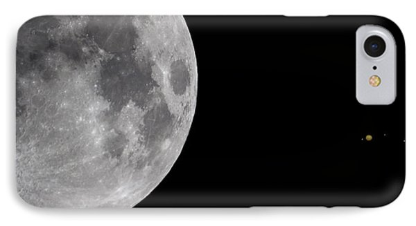 Luna And Jupiter IPhone Case by Jason Politte