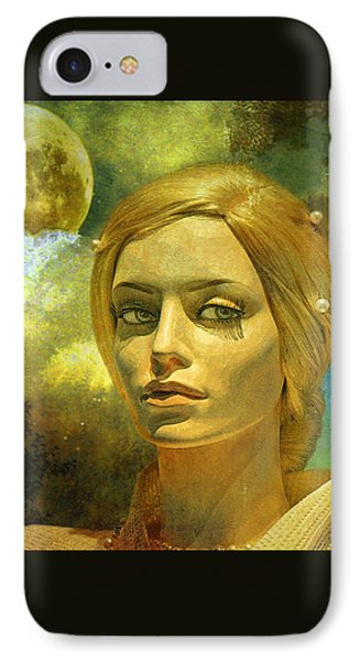 Luna In The Garden Of Evil IPhone Case by Chuck Staley