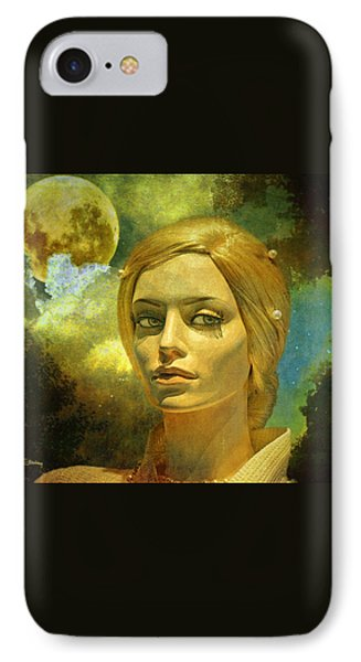 Luna In The Garden Of Evil IPhone 7 Case by Chuck Staley
