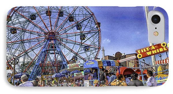 Luna Park 2013 - Coney Island - Brooklyn - New York Phone Case by Madeline Ellis
