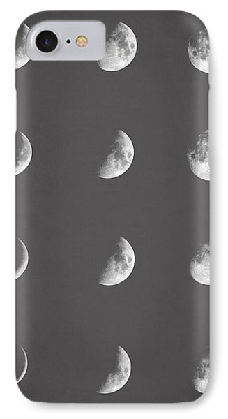 Lunar Phases IPhone Case by Taylan Apukovska