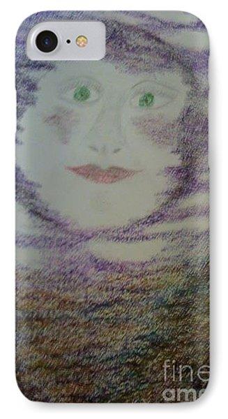 Luna's Smile IPhone Case by Yve Hockenbury Moore