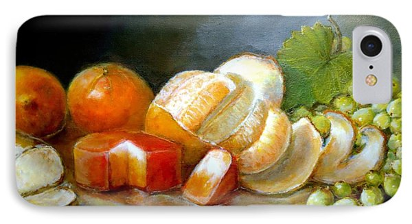 IPhone Case featuring the painting Luncheon Delight - Still Life by Bernadette Krupa