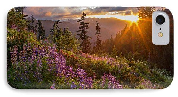 Lupine Meadows Sunstar IPhone Case by Mike Reid