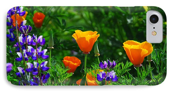 Lupines And Poppies IPhone Case by Lynn Bauer