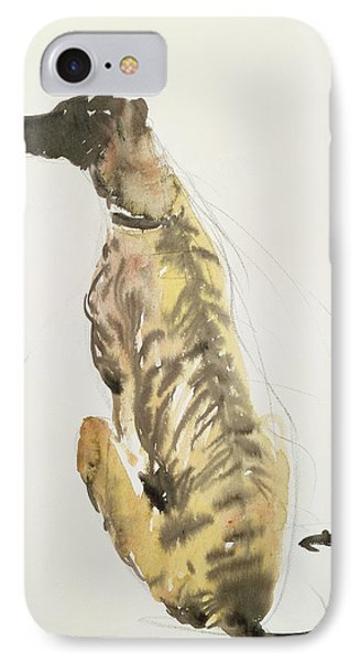Lurcher Sitting Phone Case by Lucy Willis