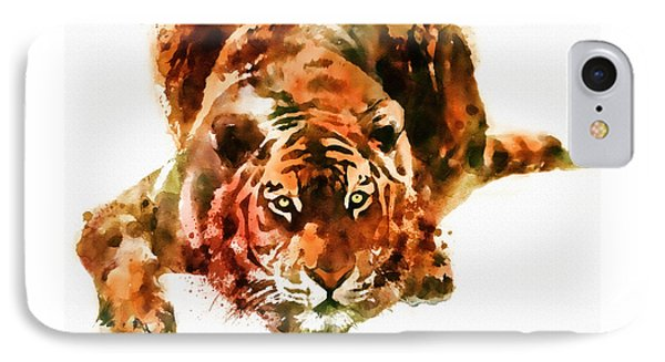 Lurking Tiger IPhone Case by Marian Voicu