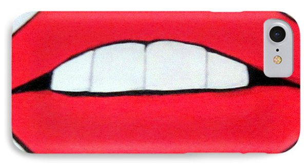IPhone Case featuring the painting Luscious Lips by Nora Shepley