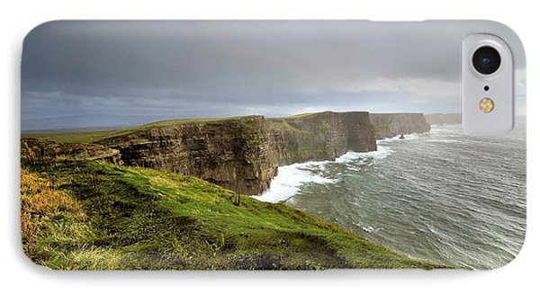 Lush Grass At Cliffs Of Moher In Ireland IPhone Case
