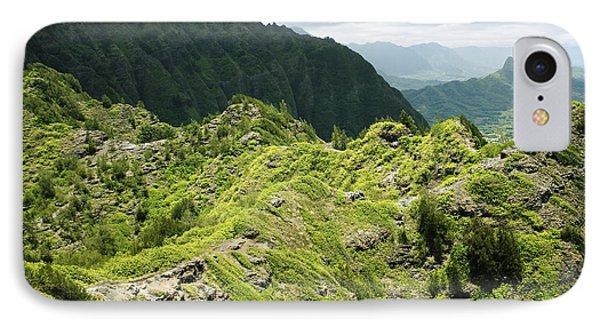Lush Hawaiian Mountains Phone Case by Charmian Vistaunet