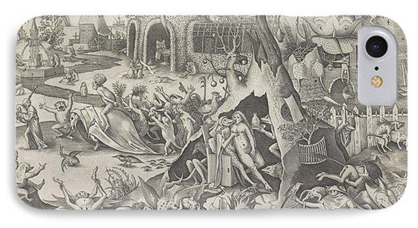 Lust, Pieter Van Der Heyden, Hieronymus Cock IPhone Case