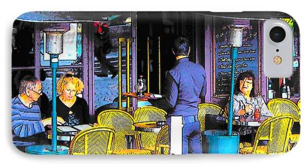Cafe Lutetia Ile Saint Louis Paris IPhone Case by Jan Matson