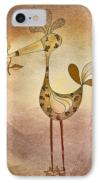 Lutgarde's Bird - 05t2c IPhone Case by Variance Collections