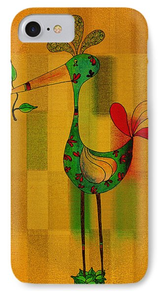 Lutgarde's Bird - 061109106-wyel IPhone Case by Variance Collections