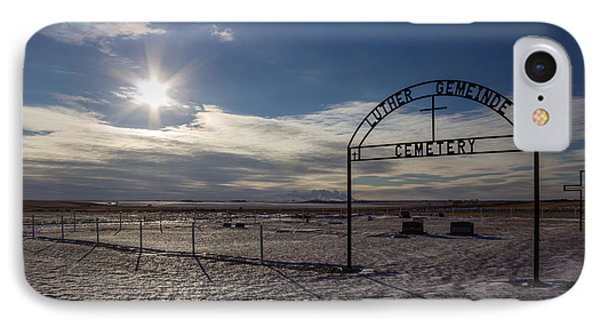 Luther Gemeinde Cemetery IPhone Case by Chad Rowe