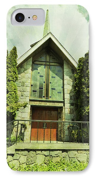 IPhone Case featuring the photograph Lutheran Church by Laurie Tsemak