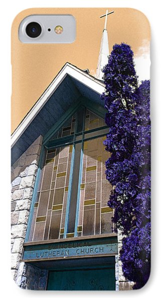 IPhone Case featuring the photograph Lutheran Church Steeple by Laurie Tsemak