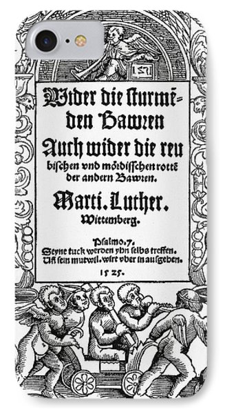 Lutheran Title Page, 1525 IPhone Case