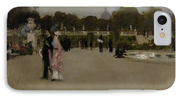 Luxembourg Gardens At Twilight Phone Case by John Singer Sargent
