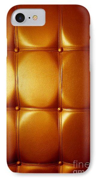 Luxury Genuine Leather. Golden Color Phone Case by Michal Bednarek