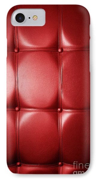 Luxury Genuine Leather. Red Color Phone Case by Michal Bednarek