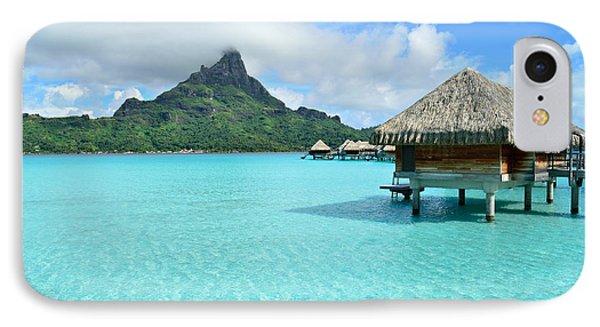 Luxury Overwater Vacation Resort On Bora Bora Island IPhone Case