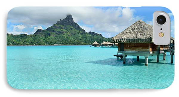 Luxury Overwater Vacation Resort On Bora Bora Island IPhone Case by IPics Photography