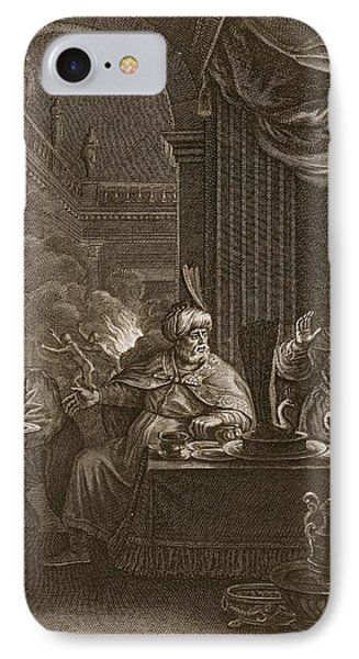 Lycaon Metamorphosed Into A Wolf, 1731 IPhone Case