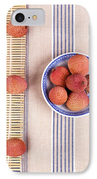 Lychess With Bamboo Mat Phone Case by Jane Rix