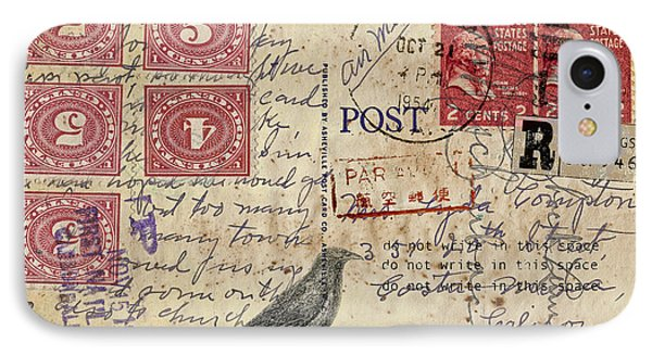 Lyda Compton Postcard IPhone Case by Carol Leigh