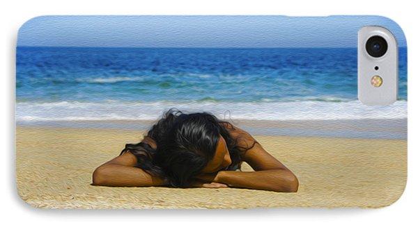 Lying On The Beach IPhone Case