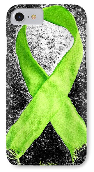 Lyme Disease Awareness Ribbon Phone Case by Luke Moore