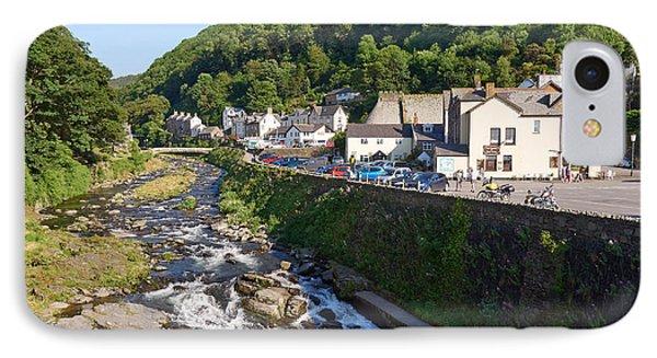 Lyn Rivers Meet In Lynmouth Devon IPhone Case by Louise Heusinkveld