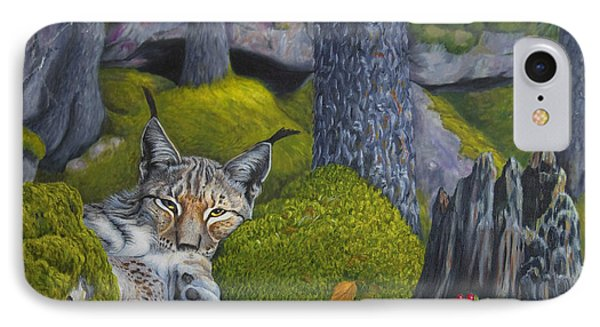 Lynx In The Sun IPhone Case by Veikko Suikkanen